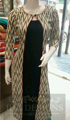 Stylish and designer kurti neck designs - ArtsyCraftsyDad Salwar Designs, Kurta Designs Women, Kurti Designs Party Wear, Dress Neck Designs, Designs For Dresses, Kalamkari Dresses, Ikkat Dresses, Simple Kurta Designs, Kurta Patterns