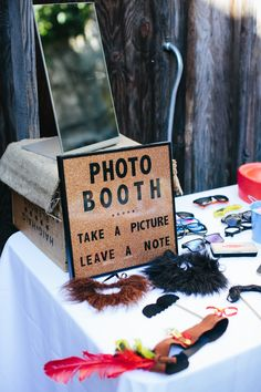 Photo booth props and signage