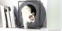 #Katzenhöhle  THE BALL. Eleganter Rückzugsort für die Samtpfote. #Katzenmöbel von Meyou-Paris