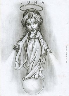 L U N A by raul-guerra on DeviantArt Fantasy Drawings, Pencil Art Drawings, Fairy Drawings, Colouring Pics, Coloring Pages, Beautiful Sketches, Fantastic Art, Face Art, Art Images