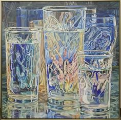 Dark Mirror by American painter Janet Fish, Cleveland Museum of Art Bottle Drawing, Cleveland Museum Of Art, Cleveland Art, Pastel, Painting Still Life, High Art, Photorealism, Elements Of Art, Art Lesson Plans