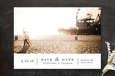 Bottom Line Save The Date Cards by Jennifer Wick at minted.com