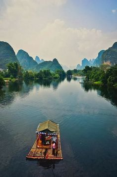 Beauty of China - Karst Mountains in Guilin. Here right now on March 3 2014. (This is not my picture  it is a repin.