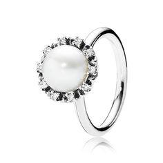 Sale Pandora Jewelry Everlasting Grace and White Pearl Ring Cheap Charms Pandora, Pandora Pearl Ring, Rings Pandora, Pandora Bracelets, Pandora Jewelry, Jewelry Rings, Pandora Pandora, Fine Jewelry, Jewlery