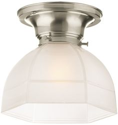 Laurel Classic Flush Ceiling Fixture with hexagonal shade. Thinking about 2 above the sink!
