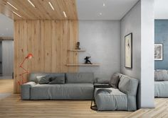 The first home from visualizer Andrew Skliarov is a contemporary apartment in Kiev. The home measures 98.6 square meters (1061 square feet) and the chief direction from the clients was to maintain simplicity -- with neither excess or deficiency.