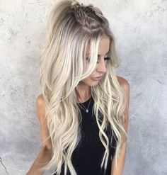 120 time saver quick hairstyle ideas to copy right now page 44 Box Braids Hairstyles, Quick Hairstyles, Straight Hairstyles, Hairstyle Ideas, Wedding Hairstyles, Festival Hairstyles, Style Hairstyle, Pinterest Hair, Light Hair
