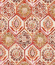 P. Kaufmann Summer Breeze Crimson Fabric - $17.3 | onlinefabricstore.net