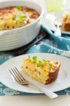 Hearty Brunch Recipe: Egg, Potato & Pepper Gratin