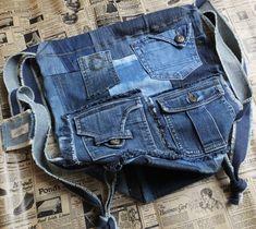 Garyusha Denim Bags Design, Denim Riga, Latvia by GaryushaDenimBags Denim Backpack, Denim Tote Bags, Mochila Jeans, Satchel, Crossbody Bag, Big Bags, Market Bag, Shopper Bag, Handmade Bags