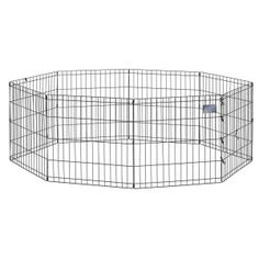 "Midwest Black Exercise Pen Without Door - 24"" - PetSmart"