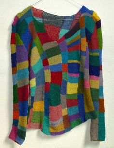 colorful handknitted shirt