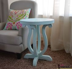 DIY Accent Table With Curvy Legs