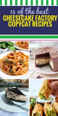 15 Copycat Cheesecake Factory Recipes - My Life and Kids - 15 Copycat Cheesecake Factory Recipes. Do you love the Cheesecake Factory as much as I do? The Cheesecake Factory, Oreo Cheesecake, Cheesecake Recipes, Dessert Recipes, Cheesecake Factory Chicken Salad Recipe, Louisiana Chicken Pasta, Great Recipes, Favorite Recipes, Easy Recipes