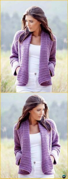 Crochet Wrap Cardigan Free Pattern - Crochet Women Sweater Coat & Cardigan Free Patterns