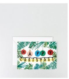 Image of 'Baubles' Gold Foil Greetings Card