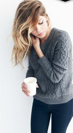 wear a cozy sweater
