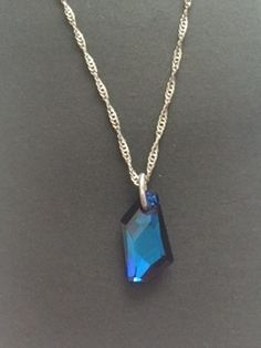 Swarovski crystal and 925 sterling silver pendant necklace  £20.00