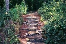 rock steps for sloped areas