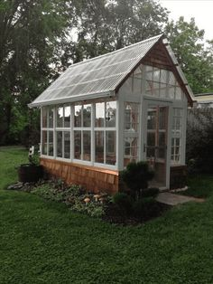 Best Backyard Garden Shed Diy Greenhouse Ideas Diy Greenhouse Plans, Backyard Greenhouse, Backyard Landscaping, Homemade Greenhouse, Greenhouse Wedding, Backyard Ideas, Old Window Greenhouse, Greenhouse Benches, Greenhouse Shelves