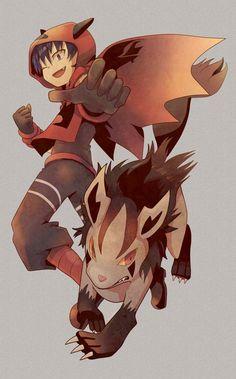 Team Magma Grunt and Mightyena. #Pokemon #TeamMagma #Mightyena