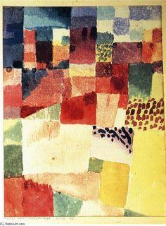 Hammamet de Paul Klee (1879-1940, Switzerland)