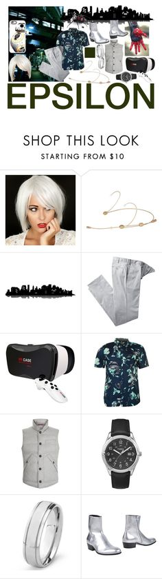 """Epsilon"" by sydsydrox ❤ liked on Polyvore featuring Galaxy Audio, Universal Lighting and Decor, Vans, Brunello Cucinelli, Timex, West Coast Jewelry, Maison Margiela, Casetify, men's fashion and menswear"