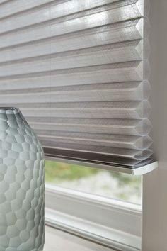 Our Duette®Shades are as beautifully stylish as they are energy-efficient – enjoy stunning designs and colours with a unique honeycomb design that helps insulate your home all year round. Blinds For Windows, Curtains With Blinds, Sheer Curtains, Drapery, Honeycomb Blinds, Honeycomb Shades, Window Coverings, Window Treatments, Thermal Blinds