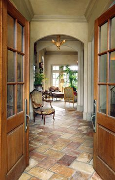 beautiful entry with great flooring - featured in At Home Arkansas magazine