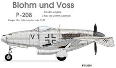 Blohm und Voss BV P.208 | Germany (Nazi) Blohm & Voss BV P-208V-1.