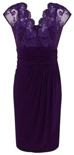 purple lace. .I will buy this dress and wear it to the grocery store WHEN I AM OLD AND WEARING PURPLE