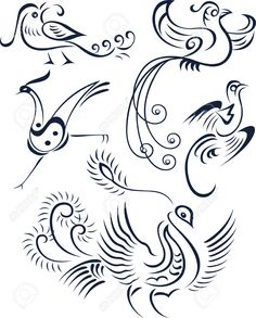 7796643-bird-tribal-symbol-design-Stock-Vector-tattoo-peacock-phoenix.jpg 1,044×1,300 pixels
