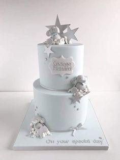 Cute elephant and stars Christening cake Elephant Birthday Cakes, Baby Boy Birthday Cake, Elephant Baby Shower Cake, Elephant Cakes, Baby Shower Cakes For Boys, Baby Boy Cakes, Girl Cakes, Baby Boy Christening Cake, Cupcakes