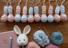 Where are you Spring? (Little Cotton Rabbits) Knitted Bunnies, Knitted Animals, Knitted Dolls, Crochet Toys, Knit Crochet, Bunny Rabbits, Animal Knitting Patterns, Stuffed Animal Patterns, Crochet Patterns