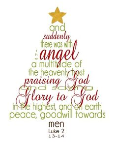 Christmas printable, Luke 2:13-14