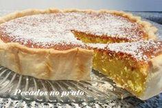 coconut tart and condensed milk Tart Recipes, Cheesecake Recipes, Wine Recipes, Gourmet Recipes, Sweet Recipes, Dessert Recipes, Cooking Recipes, Portuguese Desserts, Portuguese Recipes