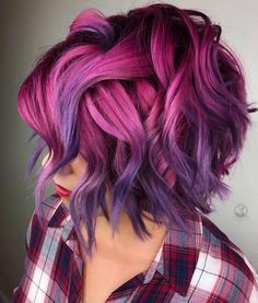 34 beautiful purple to pink hair color ideas - Hair Color I . - 34 beautiful purple to pink hair color ideas – Hair Color I … 34 beautiful purple to pink hair color ideas – Hair Color I … Hair Color Pink, New Hair Colors, Cool Hair Color, Purple Ombre Hair Short, Short Ombre, Pink Purple Hair, Violet Hair, Short Colorful Hair, Colored Short Hair