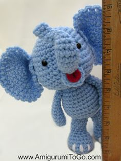 Amigurumi To Go: Little Bigfoot Elephant Video and Pattern