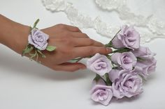 Pulseras de damas de honor decoración de la por FlowerDecoration