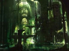 Ravnica Swamp. Art by Stephan Martiniere.