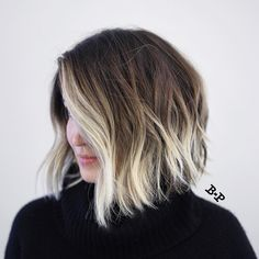 Angled Wavy Brown Bob With Blonde Balayage hair 2020 30 Short Ombre Hair Options for Your Cropped Locks in 2020 Blonde Ombre Short Hair, Cabelo Ombre Hair, Short Ombre, Ombre Hair Color, Short Hombre Hair, Ombre Bob Hair, Baylage Short Hair, Blonde Highlights On Dark Hair Short, Icy Blonde