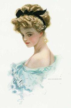 Harrison Fisher Illustration, 1903.