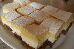 Holnap ismét megsütöm a kókuszkrémes csodát! Loaf Recipes, My Recipes, Cookie Recipes, Dessert Recipes, Hungarian Desserts, Hungarian Recipes, Cake Bars, Cakes And More, Cake Cookies