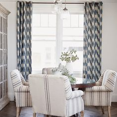 love these curtains and dining chairs