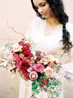 Red Wedding Bouquets 1 - The Weddings Spring Wedding Bouquets, Red Bouquet Wedding, Bride Bouquets, Bridesmaid Bouquet, Floral Bouquets, Bouquet Flowers, Wedding Dresses, Wedding Wows, Red Wedding