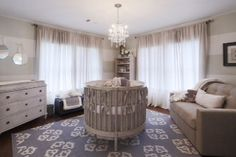 What a sophisticated and SPACIOUS nursery!