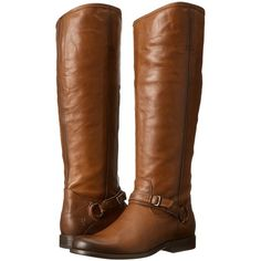 Frye Phillip Ring Tall Women's Pull-on Boots, Brown ($258) ❤ liked on Polyvore featuring shoes, boots, botas, flats, brown, knee-high boots, brown boots, tall knee high boots, knee boots and frye boots