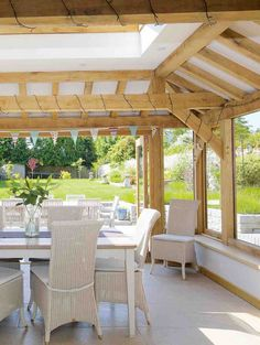 How to add an oak frame extension - Period Living Bungalow Extensions, House Extensions, Kitchen Garden Extension, Oak Framed Extensions, Period Living, English Country Style, House Inspirations, Family Rooms, Cottage Homes