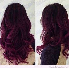Awesome dark purple hair color