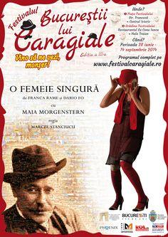 """O FEMEIE SINGURĂ - Festivalul """"Bucureștii lui Caragiale, ediția a 3-a  Regia: Marcel Stănciucu Distribuția: Maia Morgenstern"""